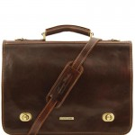 Siena Leather messenger bag 2 compartments Βusiness