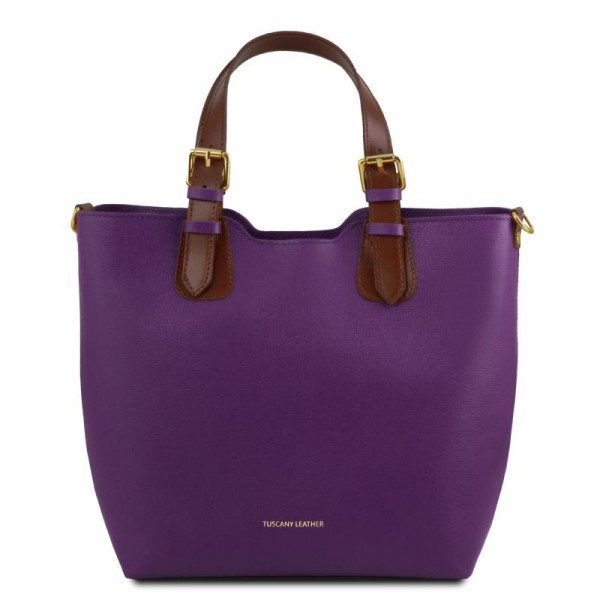 TL Bag Saffiano leather tote Leather Bags