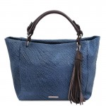 TL Bag Woven printed leather shopping bag Leather Bags