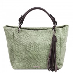 TL Bag Woven printed leather shopping bag