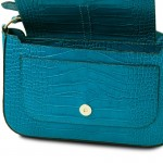 Noemi Croc print leather clutch handbag Small Leather Bags
