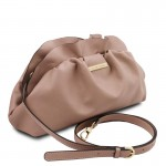TL Bag Soft leather clutch with chain strap Small Leather Bags