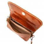 Carmen Leather shoulder bag with flap Small Leather Bags