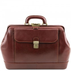 Leonardo Exclusive leather doctor bag Βusiness