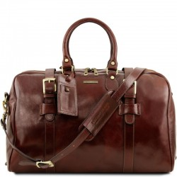 TL Voyager Leather travel bag with front straps - Large size Τypes of Travel
