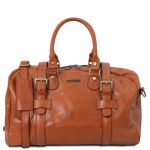 TL Voyager Leather travel bag with front straps - Small size Τypes of Travel