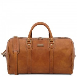 Oslo Travel leather duffle bag - Weekender bag Τypes of Travel