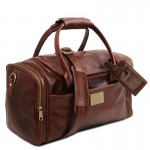 TL Voyager Travel leather bag with side pockets Τypes of Travel