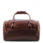 TL Voyager Travel leather bag with side pockets - Small size Τypes of Travel
