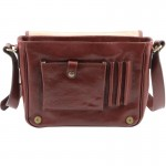 TL Messenger One compartment leather shoulder bag - Medium size Βusiness