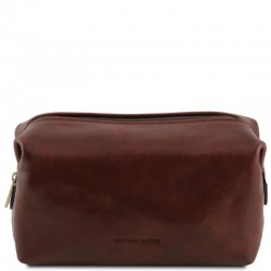 Smarty Leather toilet bag - Large size Τypes of Travel