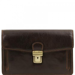 Tommy Exclusive leather handy wrist bag for man Small Leather Bags