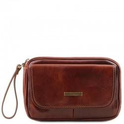 Ivan Leather handy wrist bag for man Small Leather Bags
