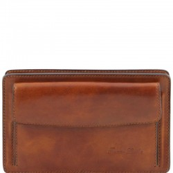 Denis Exclusive leather handy wrist bag for man Small Leather Bags