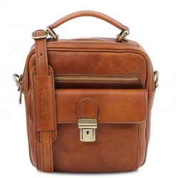 Brian Leather shoulder bag for man