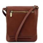 Sasha Unisex soft leather shoulder bag Small Leather Bags