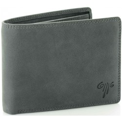 men's leather wallets stone washed