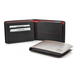 mens' leather wallets one coloured and double coloured