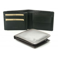men's leather wallets one coloured nappa