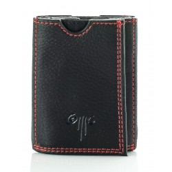 men's leather wallets / card holders one coloured double coloured nappa