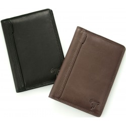 men's document leather wallets in one coloured design