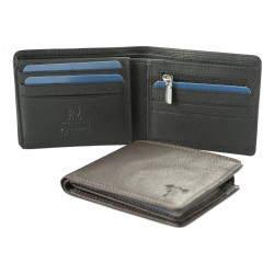 men's leather wallets one coloured nappa rfid