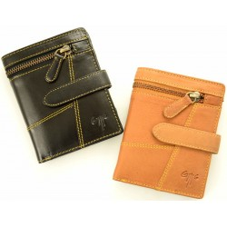 unisex leather wallets one coloured