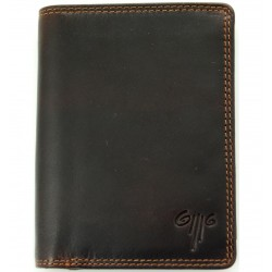men's leather wallet premium wax