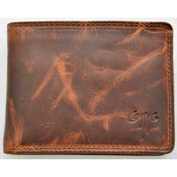 men's leather wallet premium wax