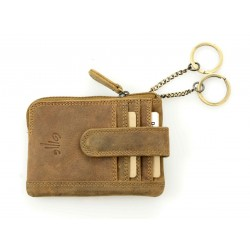 unisex leather credit card case key case oil