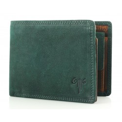 men's leather wallet premium wax nubuk