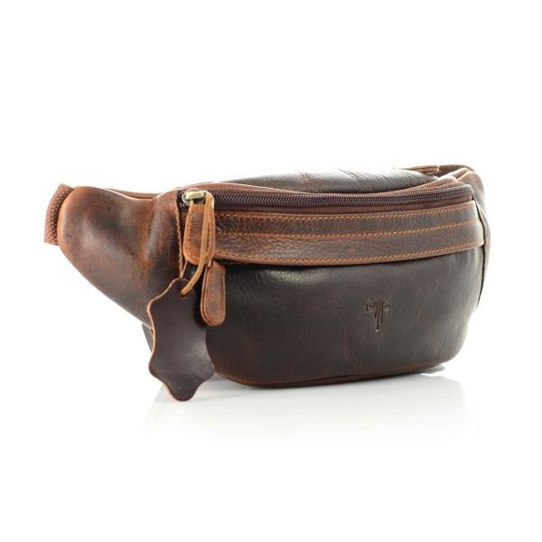 unisex leather waist bag waxy milled premium