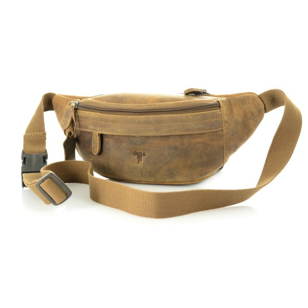 unisex leather waist bag oil pull up leather