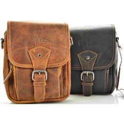 Small Unisex Crossbody Leather Bag Kion - 010