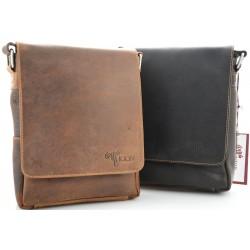 Small Unisex Crossbody Leather Bag Kion - 6307 Simple