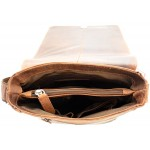 small crossbody unisex leather bags in vintage leather kion