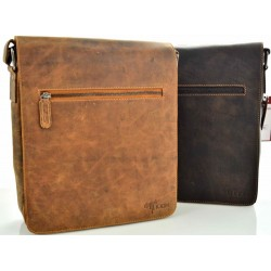 crossbody unisex leather bags in vintage leather kion