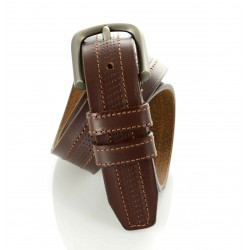 Perforated Leather Belt - 3.5 cm 'Kion'