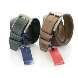 Nubuck - 4 cm Leather Belt 'Kion'