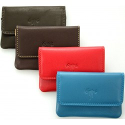 unisex leather wallet key ring one coloured & double coloured nappa