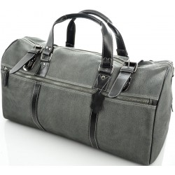 travel leather bag in waxy milled leather kion