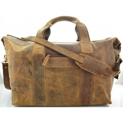 travel leather bag in oil quality leather kion