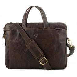 Unisex Business Leather Bag Kion - 6675 - Tumble - Premium
