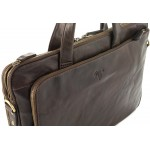 bussiness unisex leather bags in waxy milled leather kion