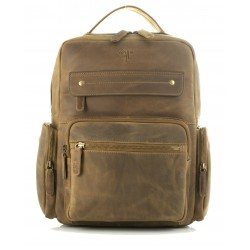 leather backpack unisex kion in oil pull up leather