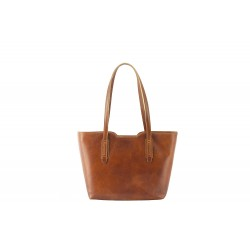women leather shoulder bags Dias in hard quality of leather vacchetta