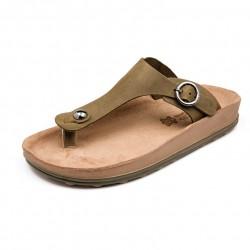 Women Anatomic Leather Sandal S300 Arianna - Kaky Brush - Fantasy sandals