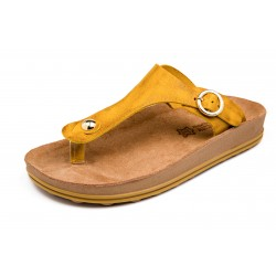 Women Anatomic Leather Sandal S300 ARIANNA OCHRE BRUSH  - Fantasy sandals