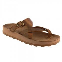 Women Anatomic Leather Sandal S307 ARIADNI TAUPE BRUSH  - Fantasy sandals