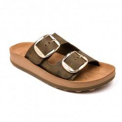 Women Anatomic Leather Sandal   S310 DESPOINA KAKY BRUSH  - Fantasy sandals